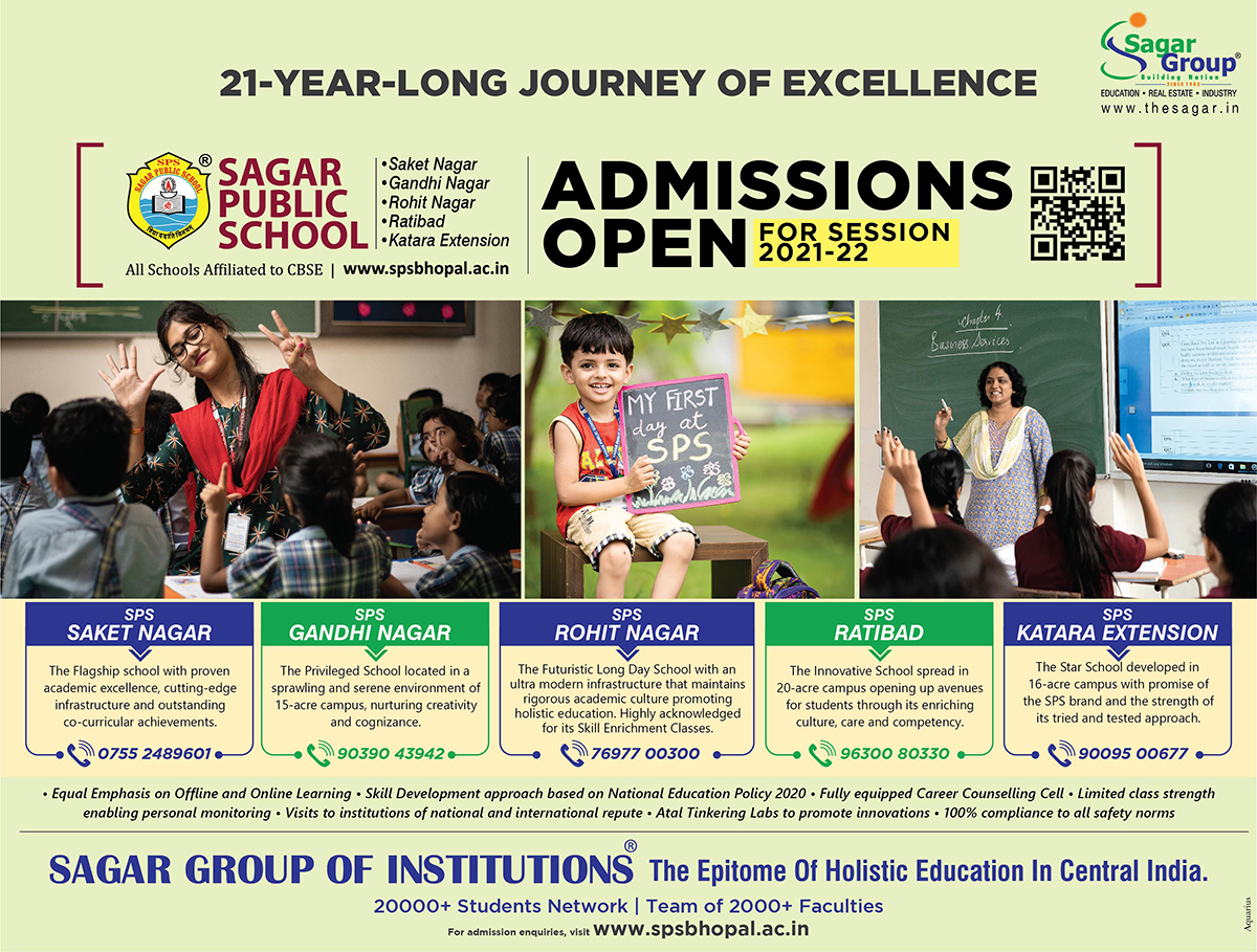 Online Admissions Open For Class XI at Sagar Public School Saket Nagar